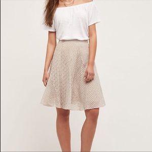 Anthropologie Maeve Thera Leaf Skirt - sz 2
